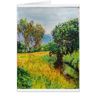 Meadow River Watercolor Card