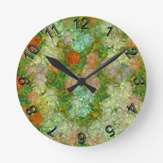Meadow Round Clock