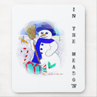 Meadow Snowman Mouse Pad