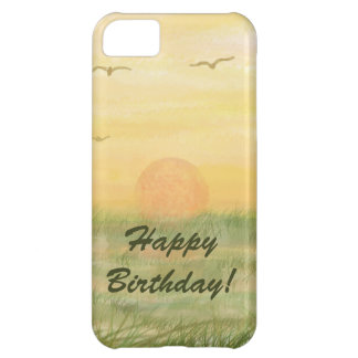 Meadow Sunset happy birthday iPhone 5C Cover