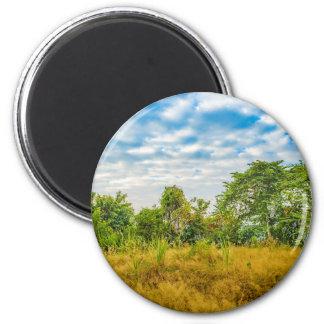 Meadow Tropical Landscape Scene, Guayaquil Magnet