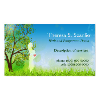 Meadow Walk Doula Midwife Double-Sided Standard Business Cards (Pack Of 100)