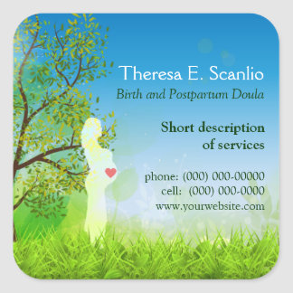 Meadow Walk Doula Midwife Promotional Square Sticker