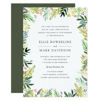 Meadow Wedding Invitation by origamiprints at Zazzle