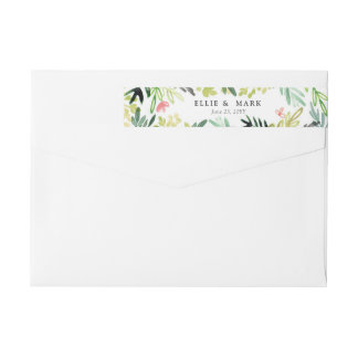 Meadow Wedding Wrap Around Label