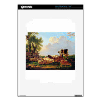 Meadow with cattle by Jacob van Strij Decals For The iPad 2