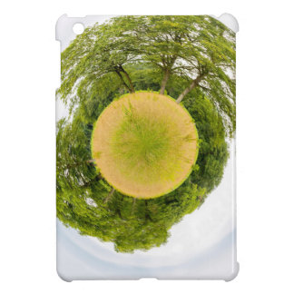 Meadow with trees like little planet iPad mini cover