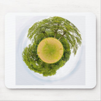 Meadow with trees like little planet mouse pad