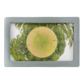 Meadow with trees like little planet rectangular belt buckle
