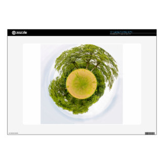 """Meadow with trees like little planet skin for 15"""" laptop"""