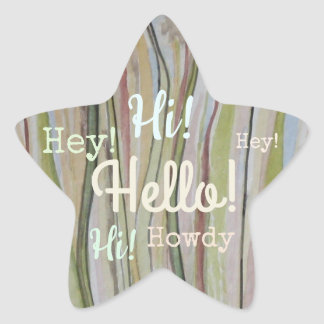 Meadowland Hello! Star Sticker