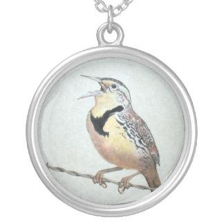 Meadowlark Round Pendant Necklace