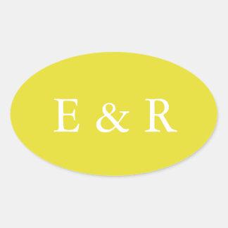 Meadowlark Yellow - Spring 2018 London Trends Oval Sticker