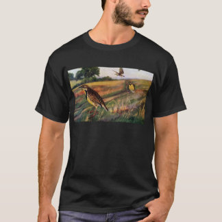 Meadowlarks in a Grassy Field T-Shirt