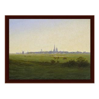 Meadows Near Greifswald By Friedrich Caspar David Post Card
