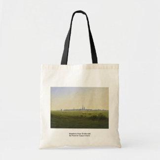 Meadows Near Greifswald By Friedrich Caspar David Tote Bag
