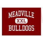 Meadville - Bulldogs - Area - Meadville Greeting Card