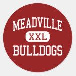 Meadville - Bulldogs - Area - Meadville Round Stickers