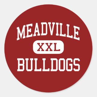 Meadville - dogos - área - Meadville Pegatina Redonda