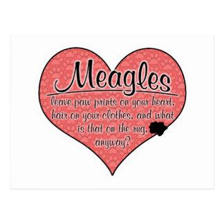 Meagle Paw Prints Dog Humor Postcard
