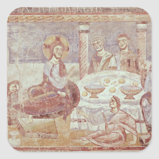 Meal at the House of Simon the Pharisee Square Stickers