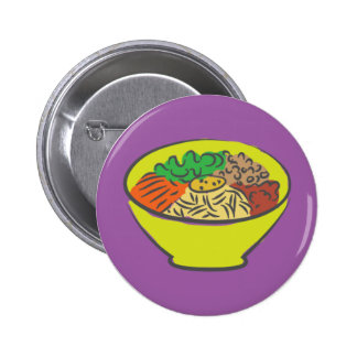 Meal Bowl Button Badge