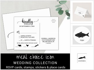 Meal Choice Icon Wedding Reception Set