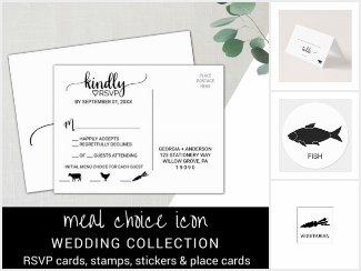 Meal Choice Icon Wedding Reception Set