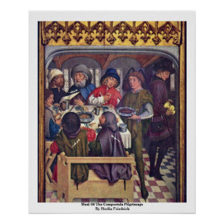 Meal Of The Compostela Pilgrimage Posters