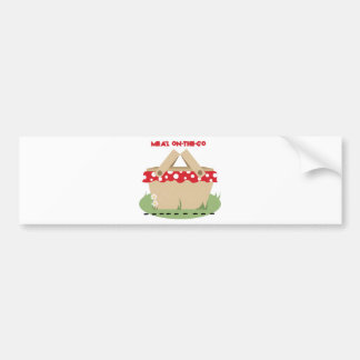 Meal On-the-Go Car Bumper Sticker