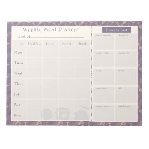 Meal Planner Purple Flow Notepads