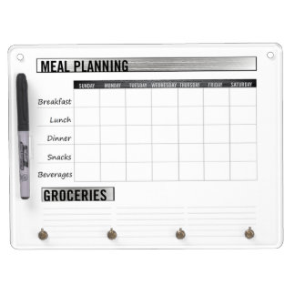 Meal Planning Chart Dry-Erase Whiteboard