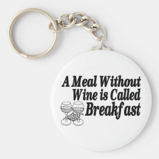 Meal Without Wine Basic Round Button Keychain