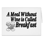 Meal Without Wine Card