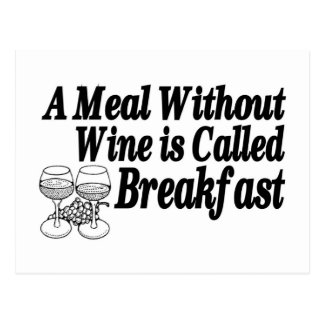 Meal Without Wine Postcard