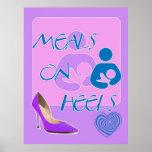 Meals on Heels! Breastfeeding Design Print