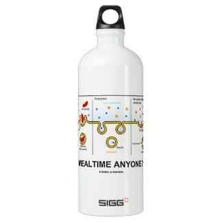 Mealtime Anyone? (Endocytosis Cellular Eating) Aluminum Water Bottle