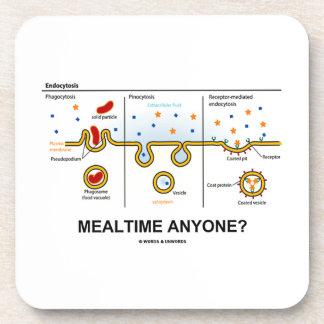 Mealtime Anyone? (Endocytosis Cellular Eating) Beverage Coaster