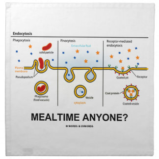 Mealtime Anyone? (Endocytosis Cellular Eating) Cloth Napkin