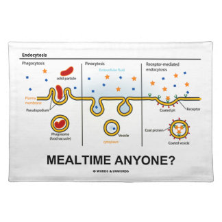 Mealtime Anyone? (Endocytosis Cellular Eating) Cloth Placemat