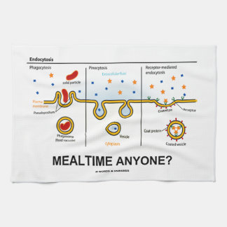 Mealtime Anyone? (Endocytosis Cellular Eating) Hand Towels
