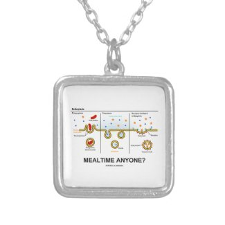 Mealtime Anyone? (Endocytosis Cellular Eating) Custom Necklace