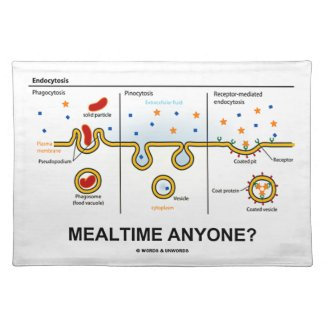 Mealtime Anyone? (Endocytosis Cellular Eating) Placemat