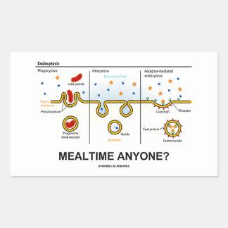 Mealtime Anyone? (Endocytosis Cellular Eating) Rectangular Sticker
