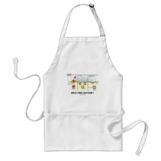Mealtime Anyone? (Endocytosis Digestion Humor) Aprons