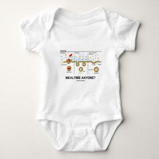 Mealtime Anyone? (Endocytosis Digestion Humor) Baby Bodysuit
