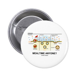 Mealtime Anyone? (Endocytosis Digestion Humor) Button