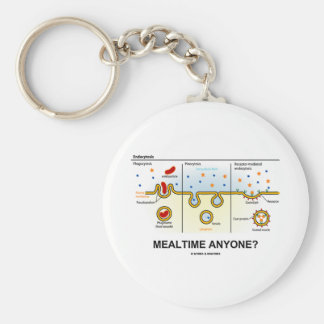 Mealtime Anyone? (Endocytosis Digestion Humor) Keychain