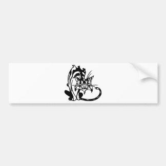 Mean Alley Cat Bumper Sticker