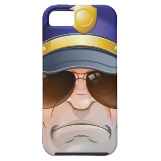 Mean Angry Cartoon Police Man Cop in Shades iPhone SE/5/5s Case